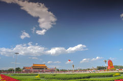 China is preparing for the 90th on Tiananmen Royalty Free Stock Images