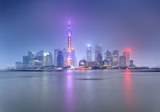 China Pudong 23 mm blue Royalty Free Stock Photography