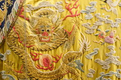 China Qing Dynasty imperial robes Stock Photos