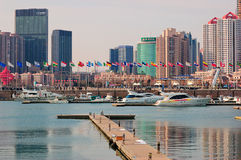 China Qingdao city Yacht Marina Royalty Free Stock Image