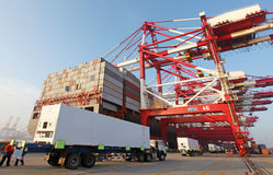 China Qingdao port container terminal Stock Photography