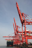 China Qingdao port container terminal Royalty Free Stock Photos