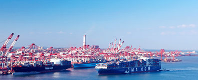 China Qingdao Port Container Terminal Royalty Free Stock Photography