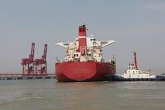 China Qingdao port and ton iron ore terminal Stock Image