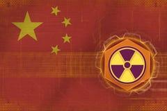 China radioactive threat. Radiation hazard concept. Royalty Free Stock Image