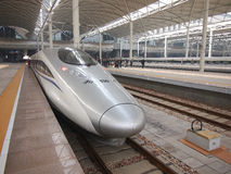 China railway ,High Speed Rail. High speed rail in China stock photos