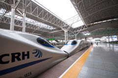 China Railway High-speed. (CRH) is the high-speed rail service operated by China Railways.  runs different electric multiple unit trainsets, The fastest Stock Images