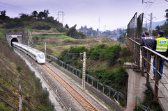 China Railway High Speed Train Stock Image