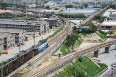China railway scenery Stock Images