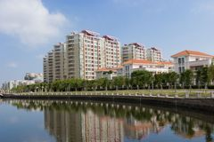China real estate. Real estate in guangzhou of china stock image