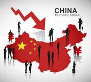 China Recession Vector. The vector of China Recession stock illustration
