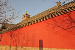 China red wall Stock Photo