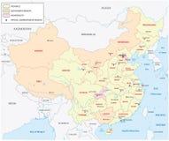 China regions map Royalty Free Stock Photography