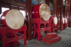 China-Reise, Trommel im chinesischen Trommel-Kontrollturm Lizenzfreie Stockfotos