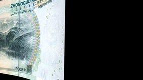 China renminbi Transition stock video footage