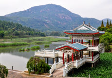 China retreat. A popular retreat destination in the mountains of china Royalty Free Stock Photo