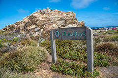 China Rock, 17 Mile Drive, California, USA. The 17 Mile Drive is a scenic road through Pacific Grove and Pebble Beach in Big Sur, Monterey, California, USA royalty free stock image