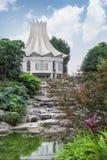 China rose building in botanic garden Stock Images