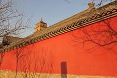 China-Rotwand Stockfoto