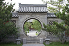 China round door entrace Stock Photo