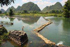 China rural scenery of Yangshou Royalty Free Stock Photo