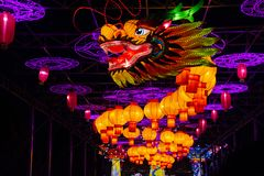 Chinese totem dragon royalty free stock images