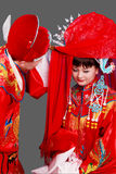 China's ancient wedding. royalty free stock photos