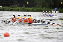 China's BLW4x. Bosbaan, Amsterdam, Netherlands - 23 July 2011: China's Lightweight womens quadruple sculls is about to become world champion with a world record Stock Images