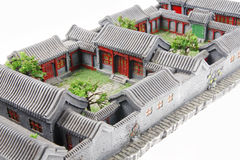 China's courtyard model Stock Photos