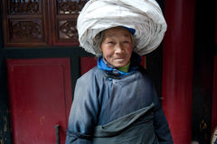 China's ethnic minorities, the Yi old lady. ,the Yi old lady royalty free stock images