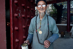 China's ethnic minorities, the Yi old lady Stock Photos
