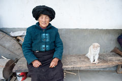 China's ethnic minorities, the Yi old lady Royalty Free Stock Photo