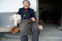 China's ethnic minorities, the Yi old lady Royalty Free Stock Photography