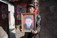 China's ethnic minorities, the Yi old lady Stock Photo