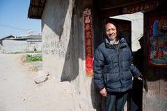 China's ethnic minorities, the Yi old lady Stock Image