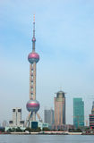 China's financial center Shanghai-east star Royalty Free Stock Photo