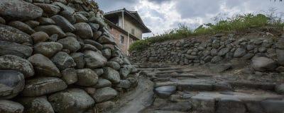 Stone stockade royalty free stock photography