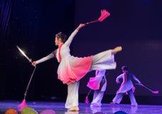 Swordsmanship dance-Chinese folk dance Stock Photos