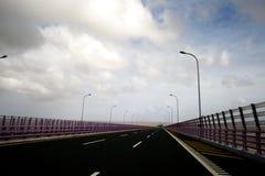China's Hangzhou Bay Bridge. Hangzhou Bay Bridge is a crossing of Hangzhou Bay Cross-sea Bridge, which the north of Zhejiang Jiaxing Haiyan Andrew Tai, Cixi Royalty Free Stock Images