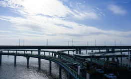 China `s Hangzhou Bay Bridge Stock Photos