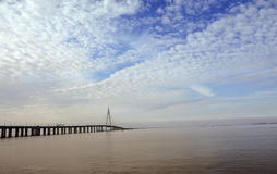 China `s Hangzhou Bay Bridge Stock Image