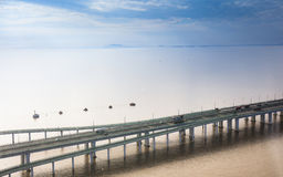 China `s Hangzhou Bay Bridge Royalty Free Stock Photography