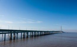 China-` s Hangzhou Bucht-Brücke Lizenzfreies Stockbild
