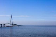 China-` s Hangzhou Bucht-Brücke Lizenzfreies Stockfoto