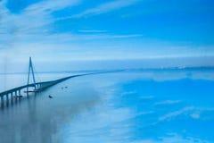 China-` s Hangzhou Bucht-Brücke Lizenzfreie Stockfotos