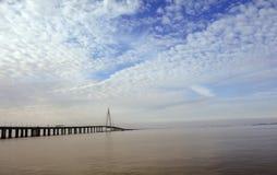 China-` s Hangzhou Bucht-Brücke Stockbild
