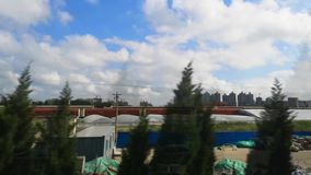 China`s high-speed railway is running in the fields
