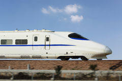 China's high-speed train. Driving in China CRH high-speed trains stock photos