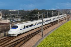 China`s high-speed trains royalty free stock photo