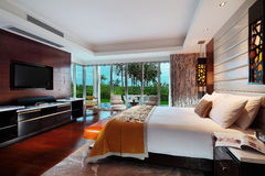 China's luxury hotel rooms,. China hotel rooms,The hotel environment royalty free stock photo